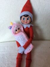 Baby Christmas Elf Plus Unicorn Blanket Prop /Accessory To fit on the shelf Elf