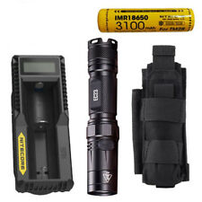 Nitecore EC23 Flashlight w/1x 3100mAh  Battery & UM10 Charger +NCP30 Holster