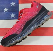 Nike Air Max 95 Dynamic Flywire 360 Running Shoe Black/Red [554715-066] Men 10.5