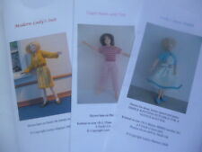 Knitting Patterns for 1:12 scale dollhouse lady doll clothes- modern (set of 3)