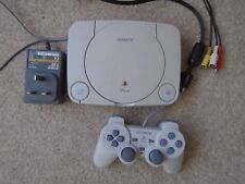 PS1 Sony Playstation Psone Slim Console (SCPH-102 PAL) bundle leads & controller