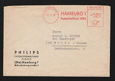 OPC 1958 Germany Hamburg to Fulda Philips Francotyp Meter