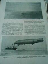 L'amarrage des Aéronefs sur Navire Rhode Island Le Shenandoah Illustration 1924