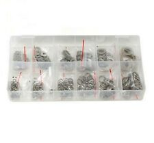 700pc. 6 sizes Stainless Steel Washers Assortment Set w/ Flat + Spring/Lock Type