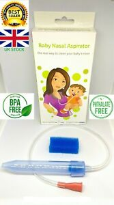 Nasal Aspirator Baby Runny Nose CLEANER Mucus Remover From Birth Infant safe New