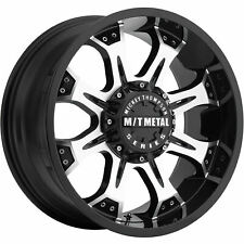 4 - 20x9 Black Machined Wheel Mickey Thompson MM-164M 8x6.5 0