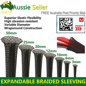 Wiring Harness Management Braided Expandable Cable Sleeve Flexibility Cord Wrap