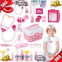 Toy Doctor Kit, 37 Piece Kids Pretend Play Toys Dentist Medical Role Educational