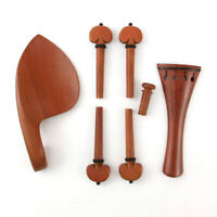 JujubeWood Violin Part violin accessories Size 4/4TailpiecePeg Chin Rest End Pin