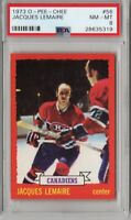 1973-74 O-PEE-CHEE NHL HOCKEY #56 JACQUES LEMAIRE PSA 8 MONTREAL CANADIENS HOF