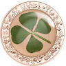 2021 $5 Palau Four-Leaf Clover 1oz Rose Gold Plated Silver Proof Coin