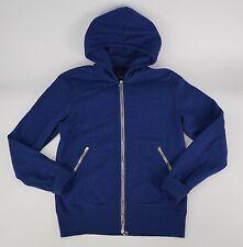 WINGS + HORNS Blue Fleece Zip-Front Hoodie Hooded Sweatshirt M Slim