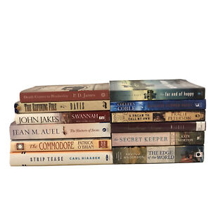 Lot Of 12 Fiction Romance Adventure Books PB & HC Mixed Authors