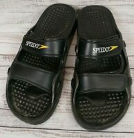 Speedo Men Sandals Flip Flops Black Slides Size 11 Pre-owned