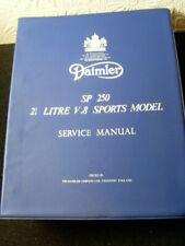 Daimler  SP 250  Service Manual Daimler Dart Reparatur Handbuch