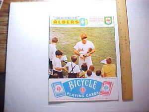 1969 CINCY REDS BASEBALL SCORE CARD PETE ROSE IN FIELD TRESLER COMET AD Fine