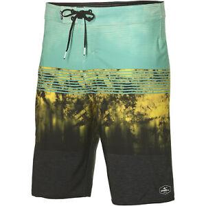 O'Neill Boardshort Swim Trunks Pm Hyperfreak Boardshorts Green Striped