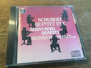 Schubert - String Quintet C[CD] EMI Alban Berg Quartett Made in Japan No Barcode