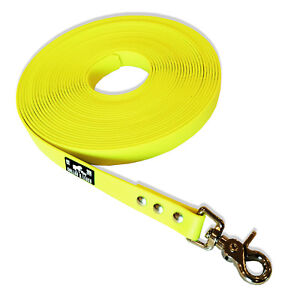 New Biothane Tracking Lead Tracking Leash 19mm Neon Yellow 1m To 15m