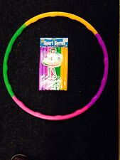 New Kids Collapsible Adjustable Colourful Hula Hoop Indoor Outdoor Fitness Gymna