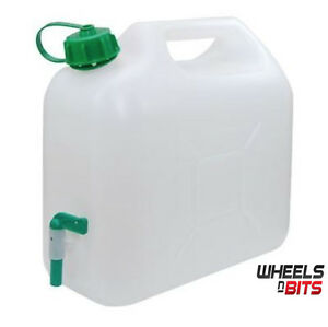 15L Plastic Garden Camping Caravan Water Carrier Fluid Jerry Can Container & Tap