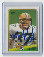 1988 PACKERS Mark Murphy signed card Topps #324 AUTO Autographed Green Bay