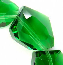 15x19mm Faceted Green Quarzt Nugget Beads 12pcs