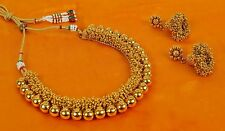 2316 Bollywood Indian Gold Plated Ethnic Bridal Polki Necklace Earrings Jewelry