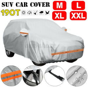 Waterproof Full Car Cover For SUV Outdoor Dust Sun UV Ray Rain Snow Siz