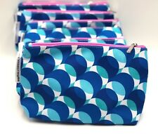 Lot of 6:  Kapitza by Clinique Cosmetic Makeup Bag Zipper Pouch  Fall 18