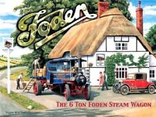 6 Ton Foden Steam Wagon Traction Engine, Classic Large Metal/Steel Wall Sign