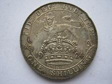 1924 George V silver shilling, GVF with edge knocks.