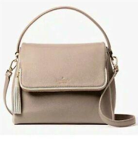 NWT $328 Kate Spade Miri Chester Street Leather Handbag Rose Cloud / Cement