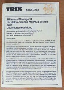 NUR ANLEITUNG für Trix EMS Steuergerät 56- 5502 00