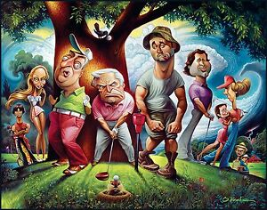 "A Tribute To Caddyshack Fine Art Print 22"" by 28"" By Artist David O'keefe"