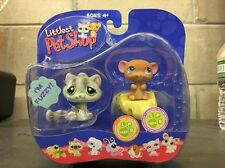 Littlest Pet Shop Pet Pairs Real Feel Kitten Cat #323 Mouse #324 New Sealed