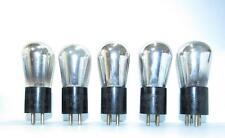*Set of 5* 1925 RCA Globe UX-201-A 01A amplifier tubes. TV-7 test @ NOS specs.