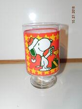 Vintage Peanuts Christmas glass: Snoopy 1965