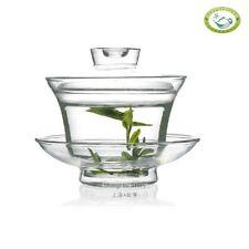 Traditional Gongfu Tea Cup Clear Glass Gaiwan 150ml 5.2oz