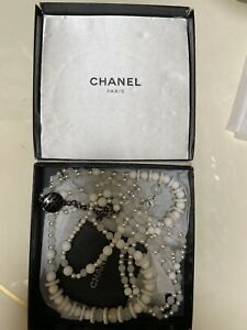 CHANEL bids And Pearls Fancy Chain, Repaired, One Front Pearl Yellow