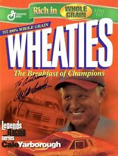 NASCAR Champ CALE YARBOROUGH Signed Wheaties Promo