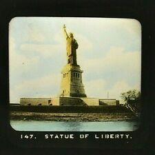 Statute of Liberty  Full Color   MAGIC LANTERN GLASS SLIDE