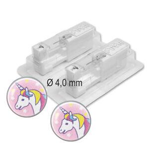 STUDEX Medizinische Ohrstecker EINHORN 4mm Stecker silber antiallgerisch 1 Paar