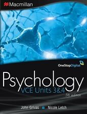 VCE Psychology Units 3 and 4 by Macmillan Education Australia (2013)