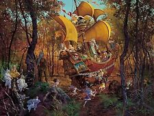 James Christensen Flight of the Fablemaker w/Hand-Colored Remarque