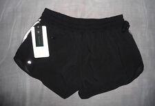 Women Lululemon Hotty Hot Short Long Black Size 2 NWT Run Yoga