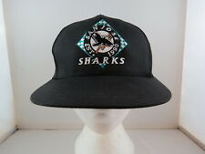 San Jose Sharks Hat (VTG) - Checkboard Logo - Adult Snapback - New With Tags