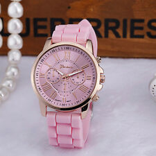 Fashion Silicone Jelly Gel Stainless Women Steel Analog Quartz Wrist Watch