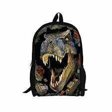 Cool Dinosaur Boys Girls Bookbag Backpack Satchel School Bag Travel Teenagers
