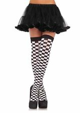Leg avenue 6281 Black and white checked checkerboard Thigh high grid gal Costume
